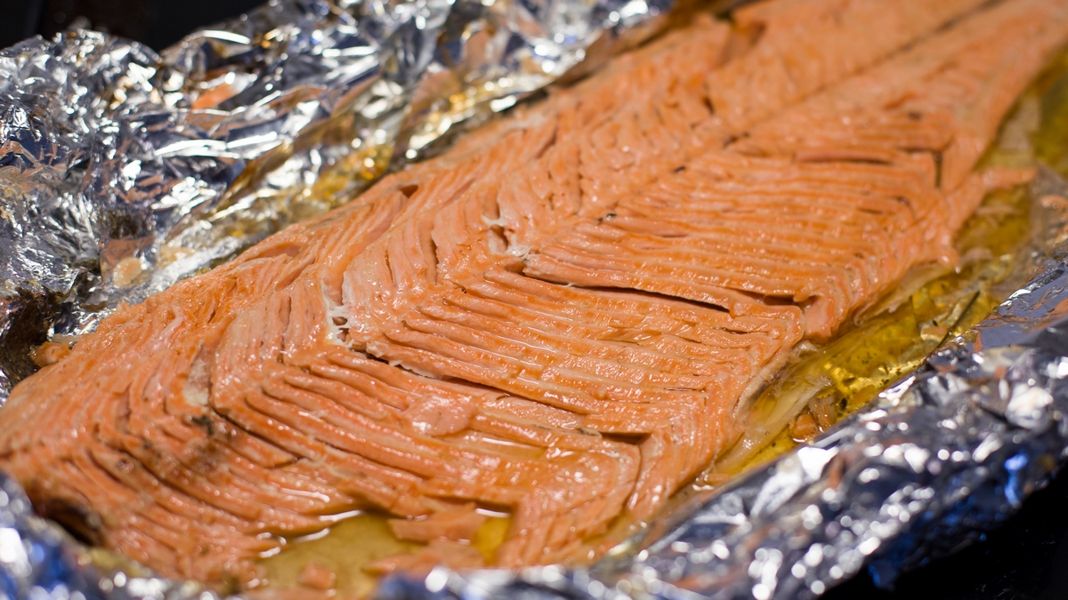 baked rainbow trout with lavender