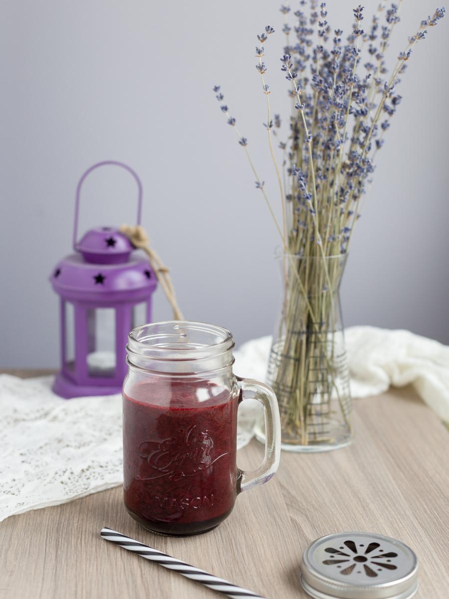 blueberry lavender milkshake