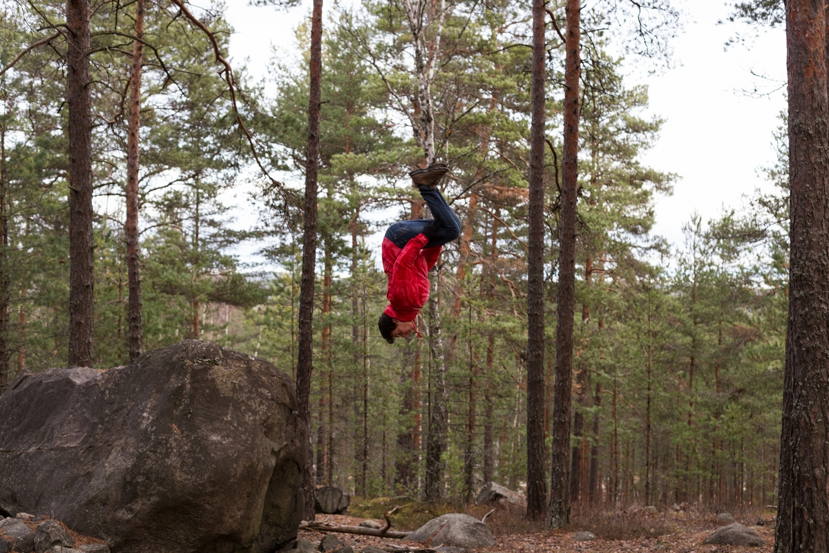 swedish forest parkour